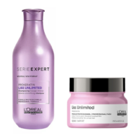 Pack Liss Unlimited Loreal Antifrizz  Shampoo 300ml y Máscara