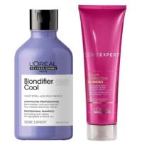 Shampoo Blondifier Cool y Corrector de Rubios Loreal