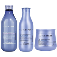 Pack Blondifier Shampoo Gloss, Acondicionador y Máscara